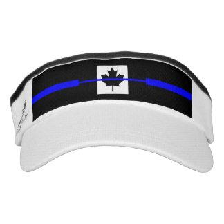 The Symbolic Thin Blue Line on Canadian Maple Leaf Visor