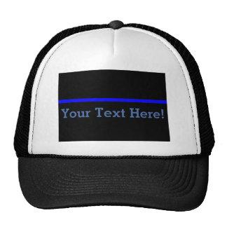 The Symbolic Thin Blue Line Personalize This Cap