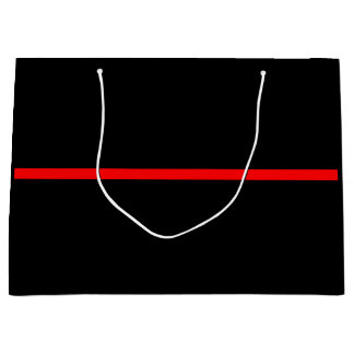 The Symbolic Thin Red Line Concept Large Gift Bag