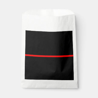 The Symbolic Thin Red Line Concept on a Favour Bag