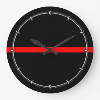 The Symbolic Thin Red Line Decor on a Large Clock
