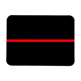 The Symbolic Thin Red Line Horizontal Black Magnet