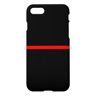 The Symbolic Thin Red Line on Solid Black on a iPhone 8/7 Case