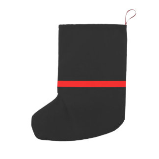 The Symbolic Thin Red Line Statement on a Small Christmas Stocking