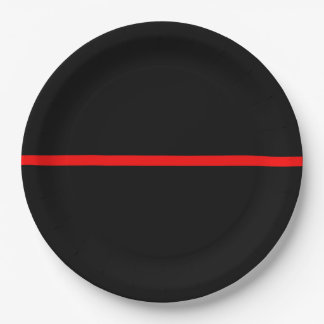 The Symbolic Thin Red Line Statement Paper Plate