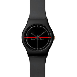 The Symbolic Thin Red Line Your Text on Black Watch