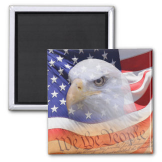 The symbols of freedom magnet