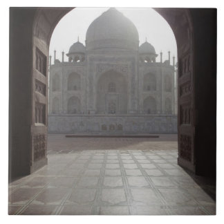 The Taj Mahal framed through the doorway to the Tile