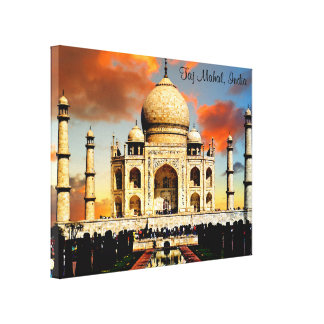 The Taj Mahal in India Canvas Print
