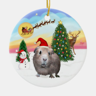 The Take Off - Guinea Pig #2 Ceramic Ornament