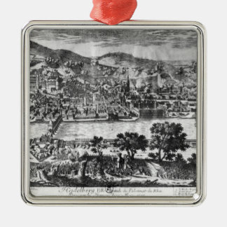 The taking of Heidelberg on 22th May 1693 Silver-Colored Square Decoration