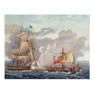 The Taking of the English Vessel 'The Java' Postcard