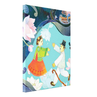 The Tale of Shim Chung Korean Folk Tale Art Canvas Print