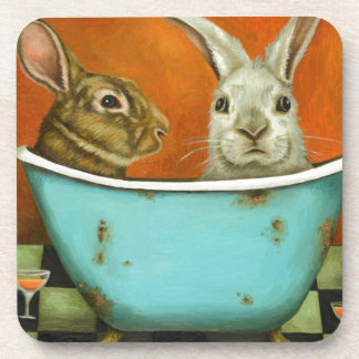 The Tale Of Two bunnies Coaster