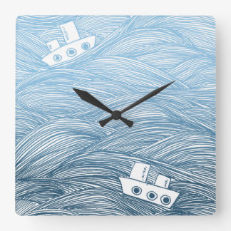 The Tale of Two Ships Wall Clock