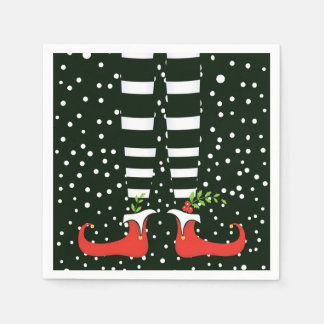 The TALL Elf Christmas Party Paper Napkins