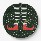 The TALL Elf Christmas Party Paper Plates