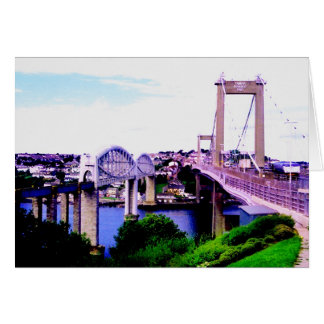 THE TAMAR BRIDGES GREETING CARD