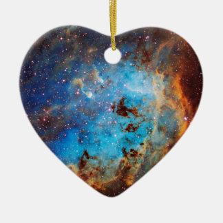 The Tapdole Nebula Ceramic Heart Decoration