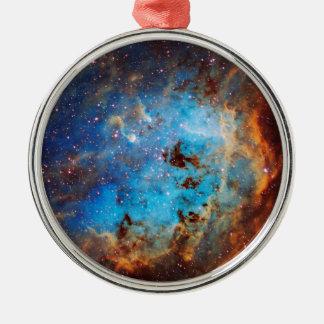 The Tapdole Nebula Silver-Colored Round Decoration