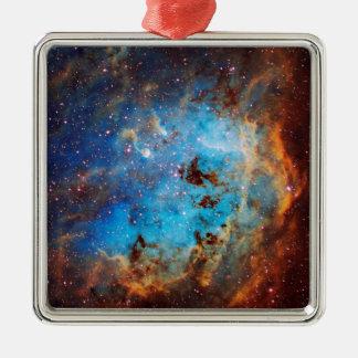 The Tapdole Nebula Silver-Colored Square Decoration