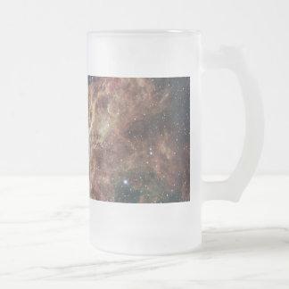 The Tarantula Nebula Frosted Glass Mug