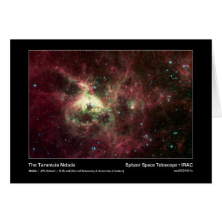 The Tarantula Nebula – Spitzer Space Telescope – I Card