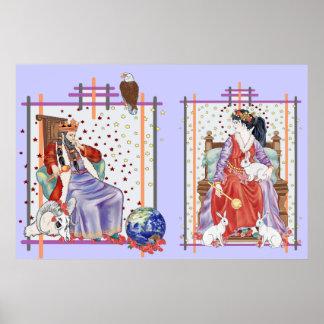 The Tarot Empress & Emperor Poster