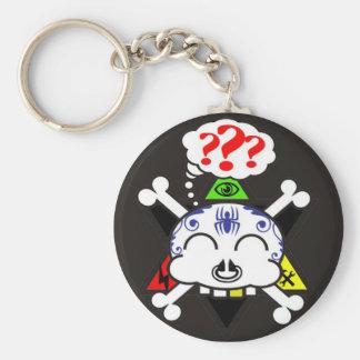 the tattood skully key chain