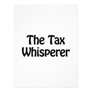 the tax whisperer 21.5 cm x 28 cm flyer