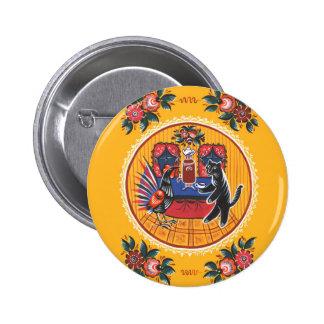 The tea party 6 cm round badge
