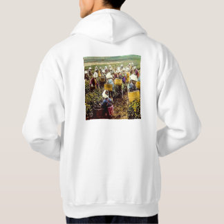 The Tea Pickers of Old Japan Vintage Hand Colored Hoodies