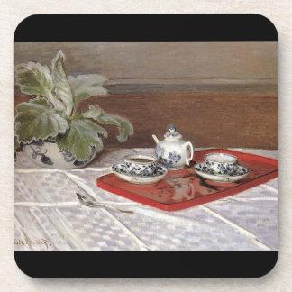 The Tea Set by Claude Monet Coaster