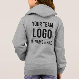 The TeamHubExchange Girl's Basic Zip Hoodie