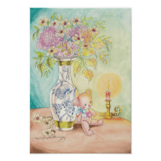 The Teddy Bear, the Candle & the Vase Posters