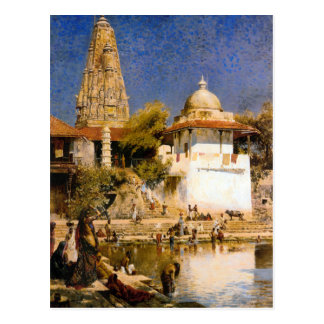 The Temple and Tank of Walkeschwar at Bombay Postcard