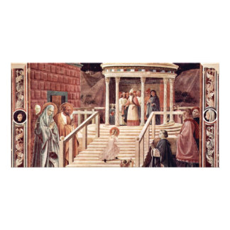 The Temple, Mary By Uccello Paolo (Best Quality) Custom Photo Card