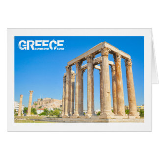 The Temple of Olympian Zeus in Athens, Greece Card