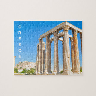 The Temple of Olympian Zeus in Athens, Greece, Jigsaw Puzzle