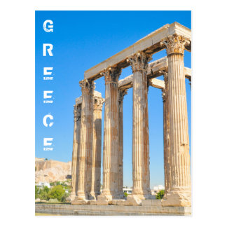 The Temple of Olympian Zeus in Athens, Greece, Postcard