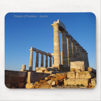 The temple of Poseidon in Sounio Mouse Pad