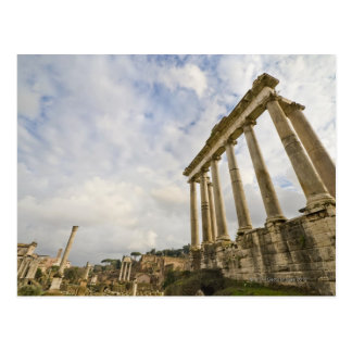 The temple of Saturn is the oldest in the Roman Postcard