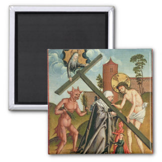 The Temptation of a Saint Fridge Magnets