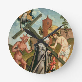 The Temptation of a Saint Round Clock