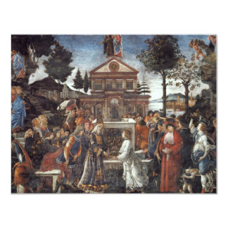 The Temptation Of Christ By Botticelli Sandro Personalized Announcements