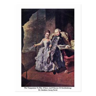 The Temptation To Play (Prince And Princess) Postcard