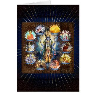 The Ten Avatars Of Vishnu - Card, Greeting, Note Card