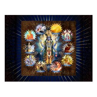 The Ten Avatars Of Vishnu - Postcard