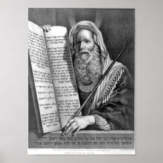 The Ten Commandments In Hebrew Print