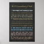 The Ten Commandments of Math Poster